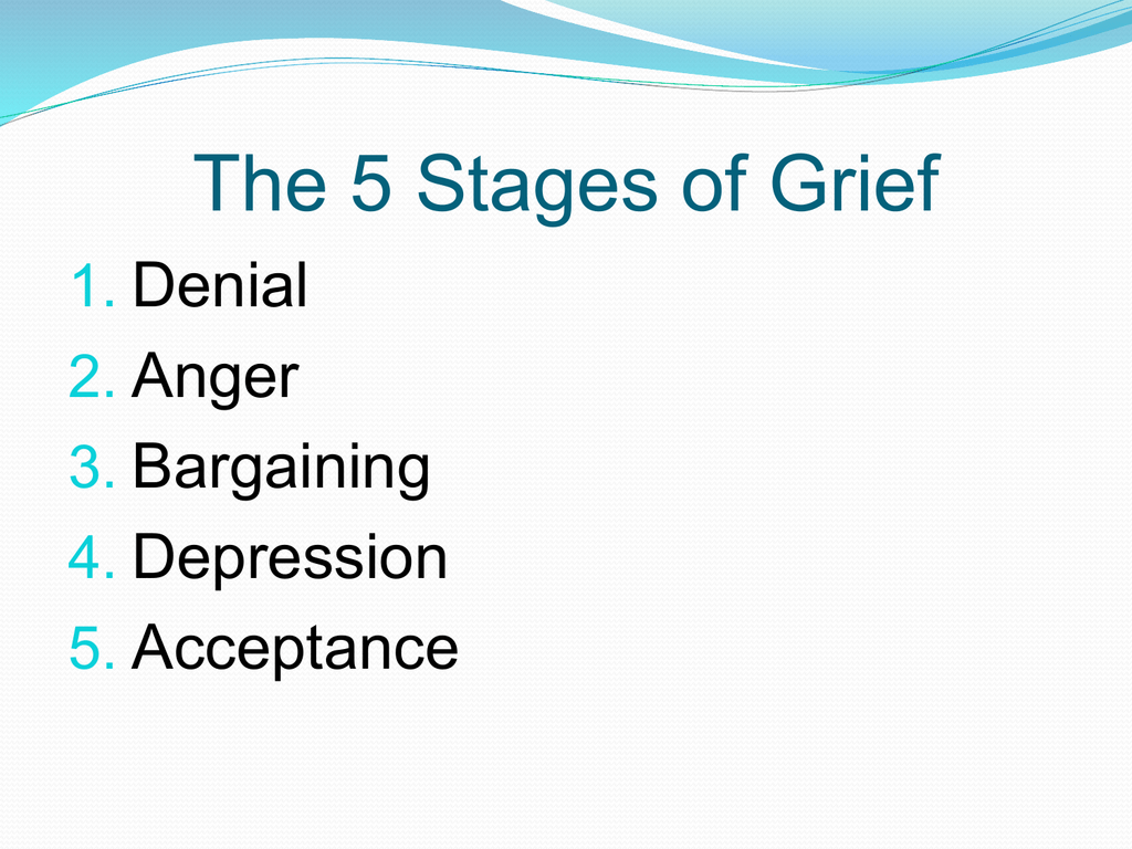 5 stages of grief