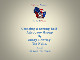 Building a strong self-advocacy group