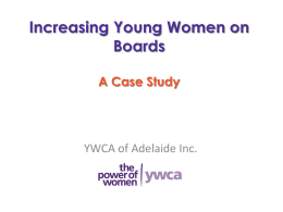 Increasing Board Opportunities for Young Women: A Case Study