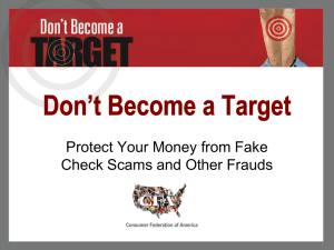 Don*t Become a Target - Consumer Federation of America