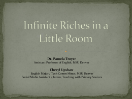 Infinite Riches in a Little Room