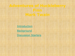 Adventures of Huckleberry Finn Mark Twain
