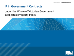 IP Policy in Government contracts