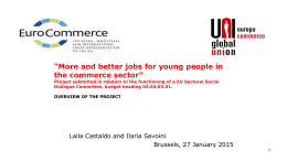 and better jobs for young people in commerce