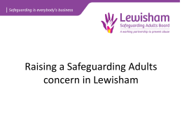 Raising a Safeguarding Adults concern