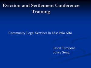 Eviction and Settlement Conference Training