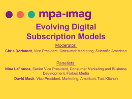 Evolving Digital Subscription Models
