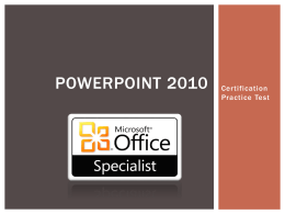 PowerPoint 2010 Practice Test