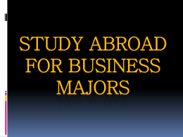 Study Abroad for Business Majors