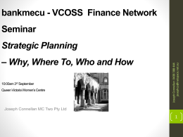 PRES_MC Two VCOSS Finance Network Governance