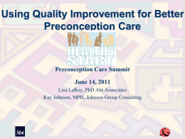 Healthy Start Interconception Care Learning Community (ICC LC)