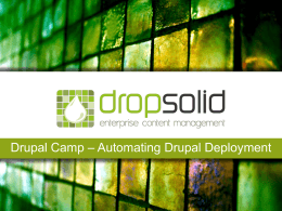 Dropsolid-dcamp AE - Automating Drupal Deployment