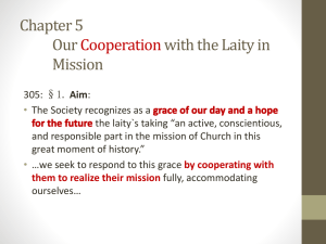 Cooperation with Laity