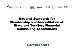 Summary of Consultations - Money Workers Association NT