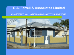 G.A. Farrell & Associates Limited CHARTERED VALUATION AND