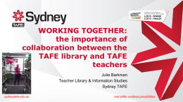 sydneytafe.edu.au real skills, endless possibilities
