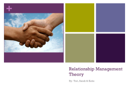 Relationship Management Theory