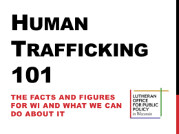 Human Trafficking 101- WI