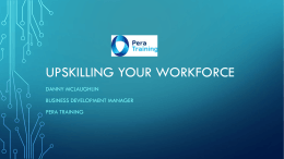 Upskilling your workforce