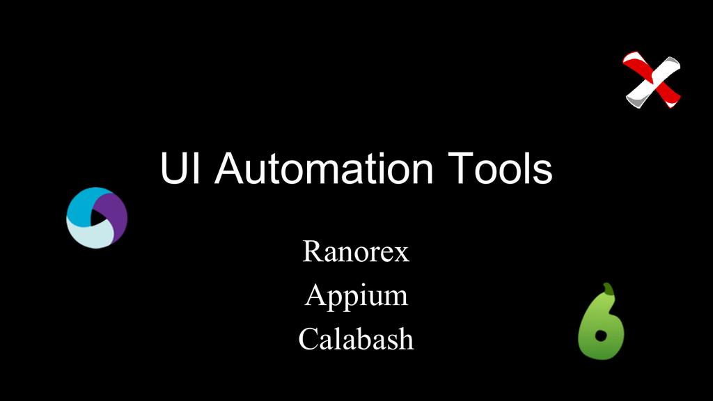 QA UI Automation Tools