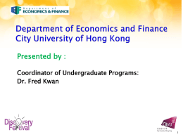 BBA Finance - City University of Hong Kong