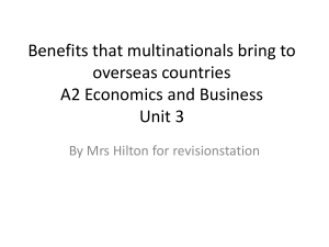 Benefits of Multinationals