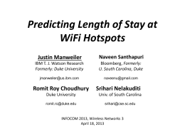 Justin Manweiler Predicting Length of Stay at WiFi Hotspots