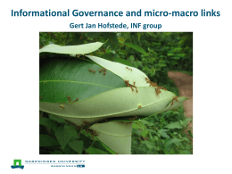 Transparency and bringing micro-macro links to