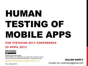 Human testing of mobile apps - Better Software Testing Blog