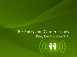 Re-Entry and Career Issues