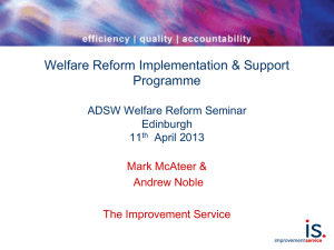 WRISP - Presentation to the ADSW Welfare Reform Seminar