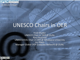 OER Chairs program report
