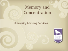 Memory and Concentration [PPT]