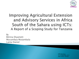Improving Agricultural Extension and Advisory Services in