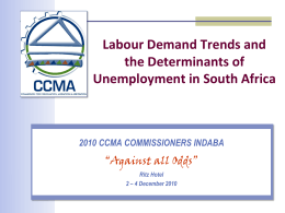 Labour Demand Trends and the Determinants of Unemployment in