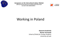 Working in Poland - Europeans on the intercultural labour market