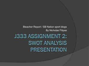 J333 Assignment 2: Swot analysis presentation