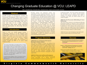 Changing Graduate Education @ VCU: LEAPD