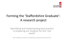 Forming the Staffordshire Graduate
