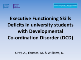 What at the reported executive functioning skills deficits in students