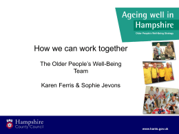 Older Persons Wellbeing Team