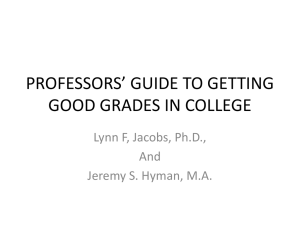 Professor`s Guide to Getting Good Grades