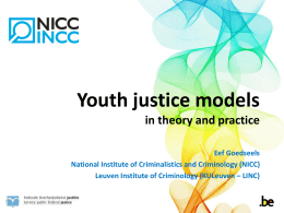 Youth Justice Models: In Theory and Practice