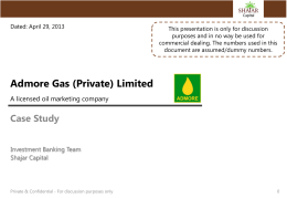 Admore Gas, Mr. Ashar Saeed