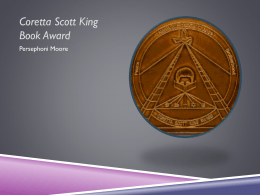 Coretta Scott King Award PPT