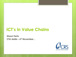 ICT`s in Value Chains - Making The Connection