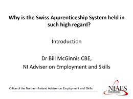 Title Subtitle - Department for Employment and Learning