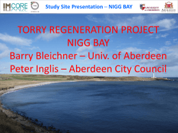 NIGG BAY - Homepages | The University of Aberdeen