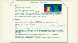 ALC West Dress Code