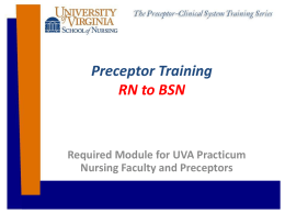 Preceptor Training for RN-BSN